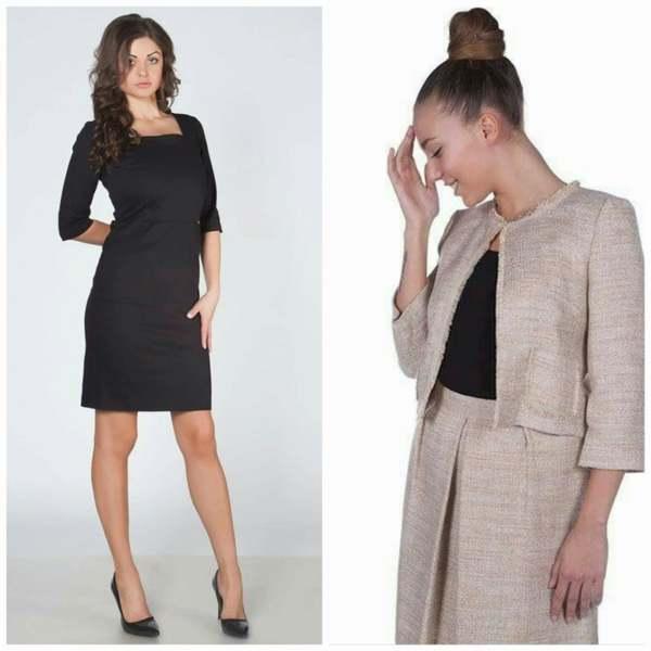 Комплект рокля и сако
